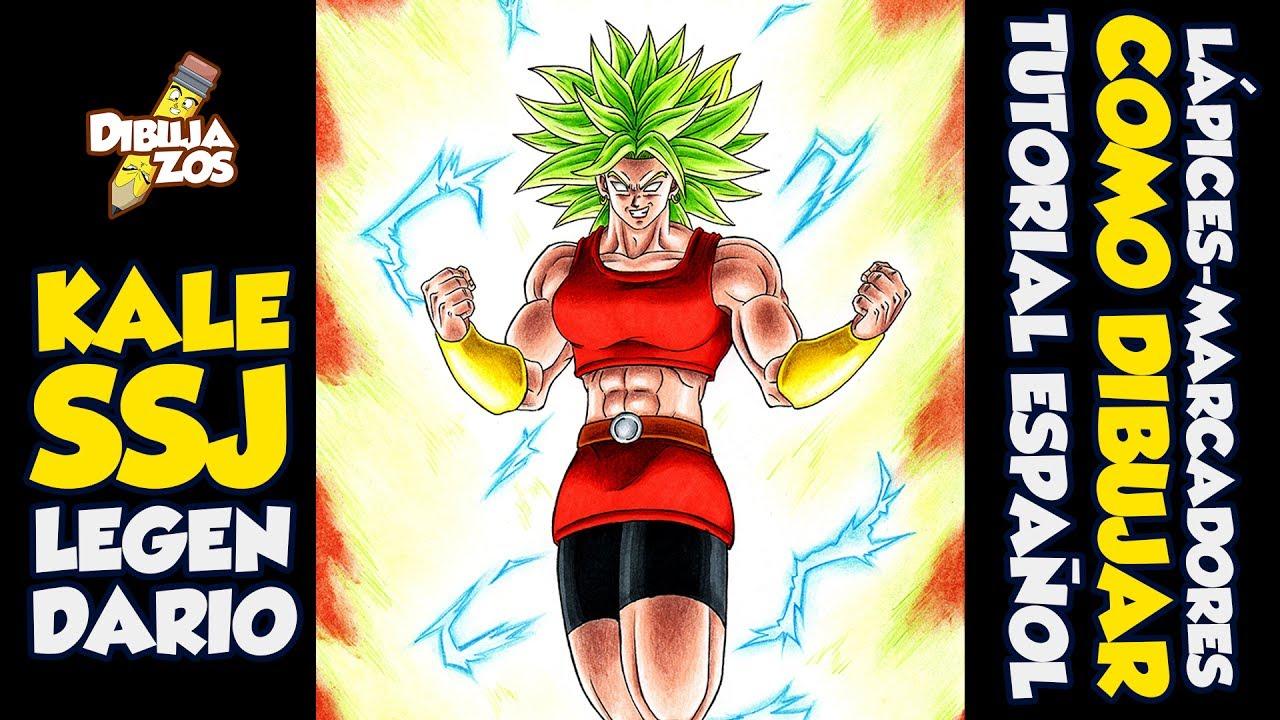 Como Dibujar A Kale Keeru Ssj Legendario How To Draw Kale Dragon Ball Super