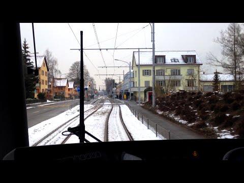 VBZ Zürich Tram | Linie 7: Bahnhof Stettbach - Wollishofen | Bombardier Be 5/6 'Cobra'