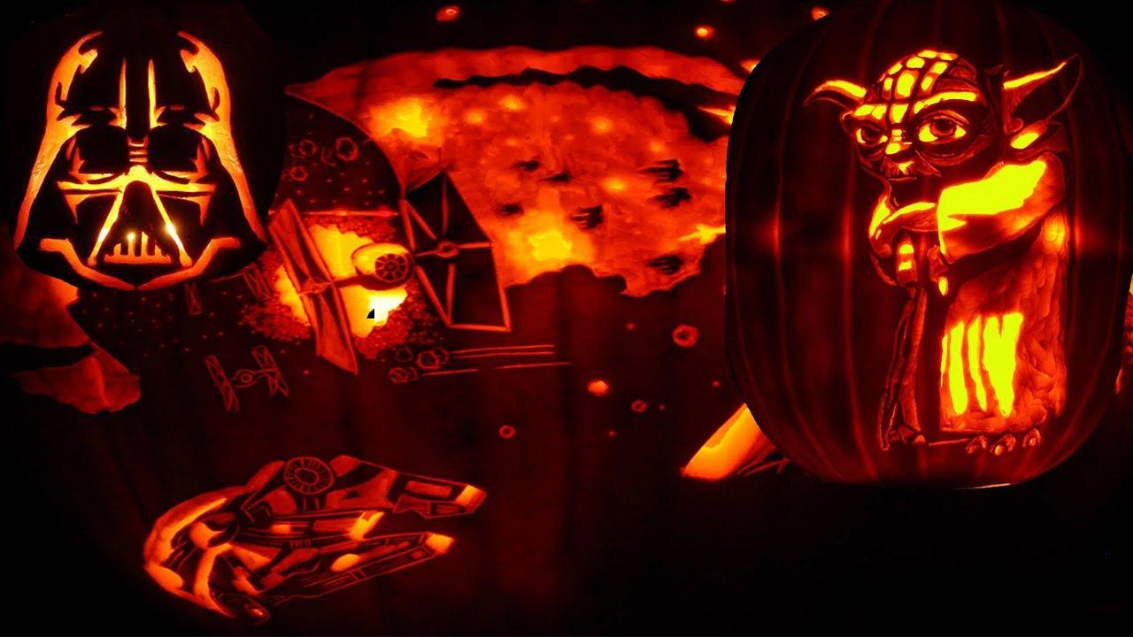 Star wars the last jedi pumpkin carving challenge! jack o lanterns