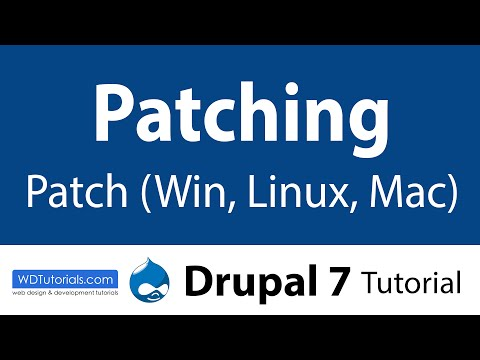 How To Apply Patches (Drupal Tutorial)
