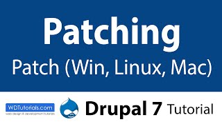 Drupal 7 - How To Apply Patches In Mac, Linux And Windows