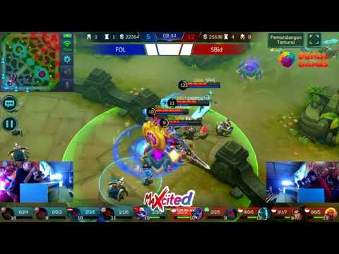 FOL Vs SBid - MAXcited 2017 - Samarinda (Mobile Legends - Day 1)