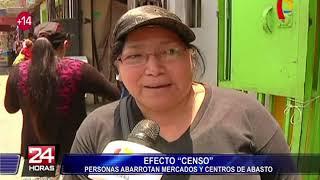 Censo 2017: personas abarrotaron mercados y centros de abastos a un día de acto cívico