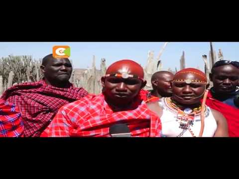 Young couple conducts their nuptials the Maasai traditional way