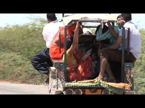 Motorcycle becomes jugaad three wheeler tempo, Dwarka - YouTube