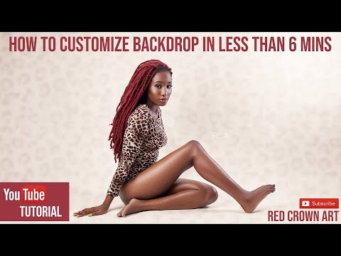 Photoshop tutorial: HOW TO CUSTOMIZE BACKDROP IN LESS THAN 6 MINS thumbnail