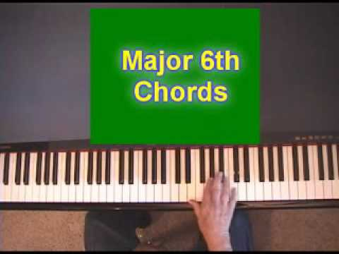 Piano Chords 6th Chordshow To Form Them On The Piano Youtube