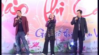 Hài Chiến Thắng, Quang Tèo, Trà My trong chương trình XUÂN THI CA 2015 do Thi đàn Việt Nam tổ chức
