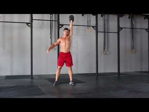 Hang Clean And Jerk DB Single Arm