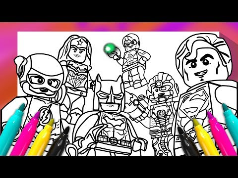 - JUSTICE LEAGUE Coloring Book DC Comics Superheroes Coloring Page - YouTube