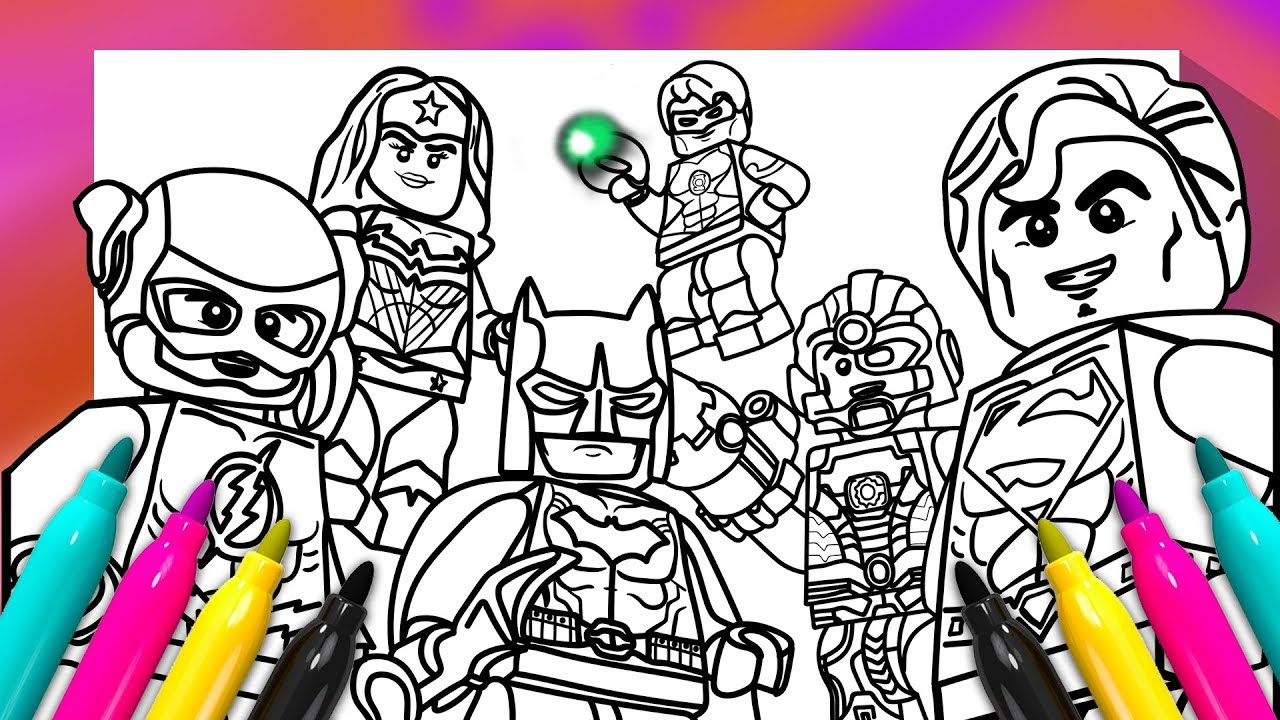 Justice League Coloring Pages Lego | Colorpaints.co