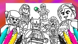JUSTICE LEAGUE Coloring Book | DC Comics superheroes Coloring Page