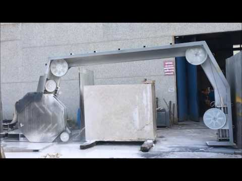 TRANSPORTABLE DIAMOND WIRE ARCH MACHINE DAZZINI PD1500 PART.1 - YouTube