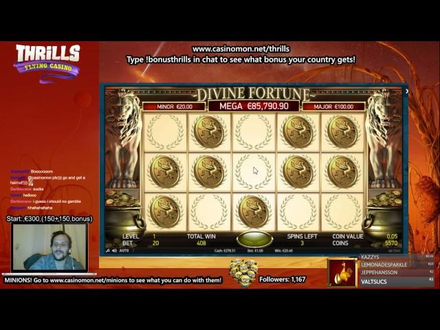Hitting Mini-Jackpot  in Divine Fortune - NetEnts New Game! (No big win)
