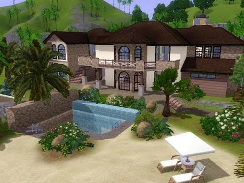 the sims 3 house building seaside villa youtube