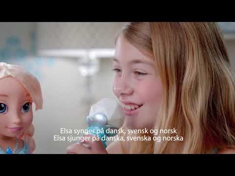 sjungande elsa docka med mikrofon