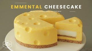 톰과 제리 치즈케이크! 노오븐 에멘탈 치즈케이크 만들기 : Tomu0026Jerry No-Bake Emmental Cheesecake : エメンタールチーズケーキ | Cooking tree