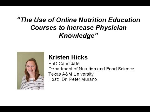The Use of Online Nutrition Education Courses to Increase Physician Knowledge