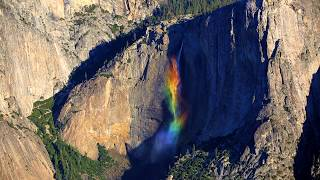 Rare Viral Must See Yosemite Falls Rainbow Phenomenon Real Time