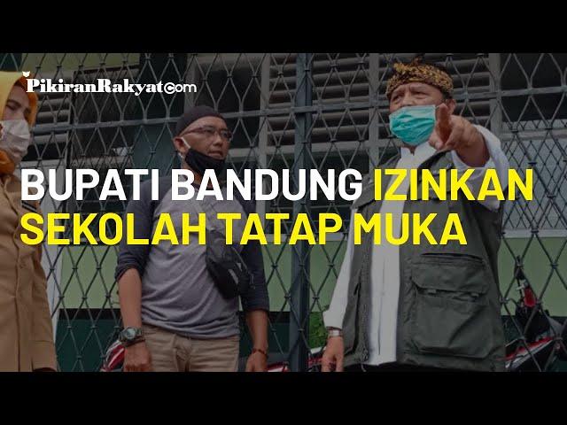 Bupati Bandung Beri Izin Sekolah Tatap Muka Januari 2021, Ini Syarat dari Dadang Naser