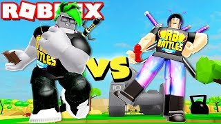 BOY vs GIRL Becoming the STRONGEST in Roblox Lifting Simulator!