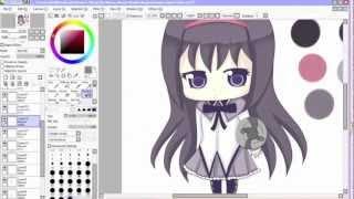 Homura Akemi Chibi {Speed Paint}