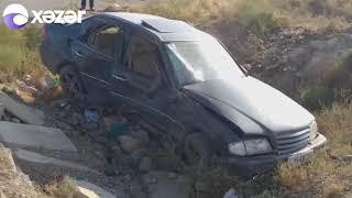 Hacıqabulda AĞIR QƏZA - Ana öldü, həyat yoldaşı və iki övladı ağır xəsarət aldı