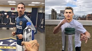 Ünlü Futbolcular Tekmeyle Kapak Açma (Bottle Cap Challenge) Akımına Katıldı Ronaldo,İbrahimovich..