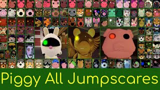 PIGGY ALL JUMPSCARES BOOK 1 & 2, OLD DESIGNS, EXTRA SKINS, AND EVENT SKINS