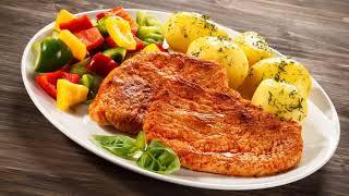 Картинка еда. Овощи, мясо, картофель, перец. Карцінка, ежа, гародніна, мяса, бульба, перац.