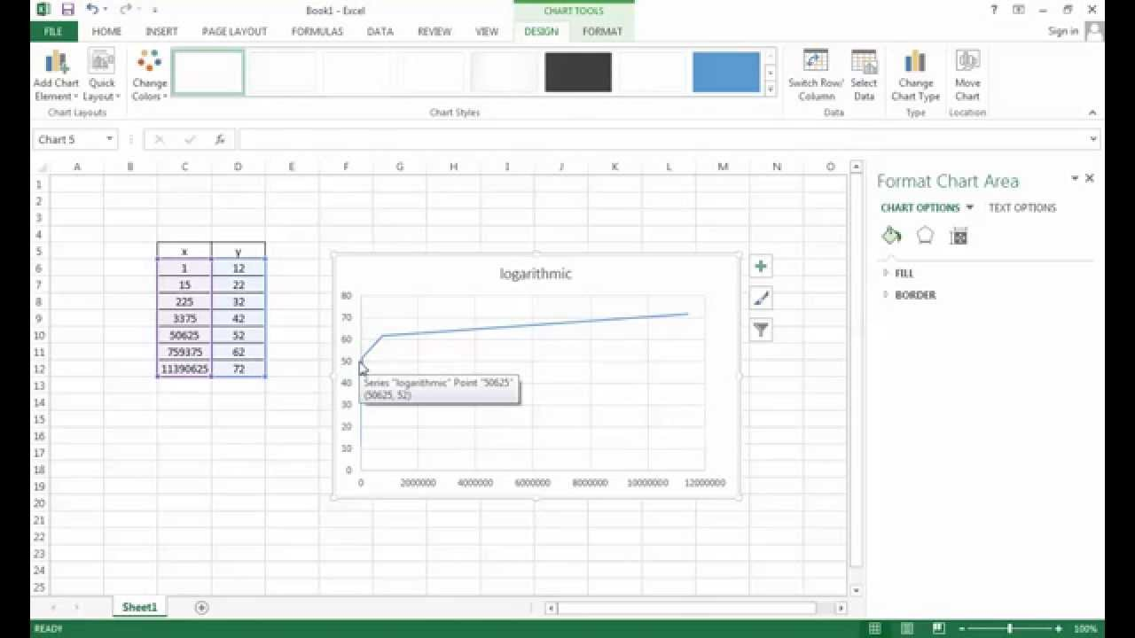 How to make  log chart in excel also youtube rh