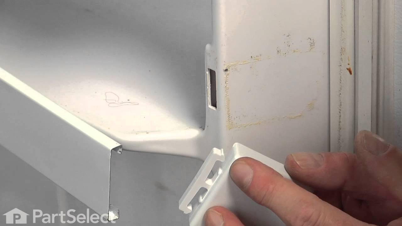 Refrigerator Repair Replacing The Shelf Trim End Cap