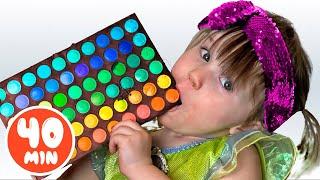 Cinque Bambini Sfida al cioccolato La raccolta di video per i bambini