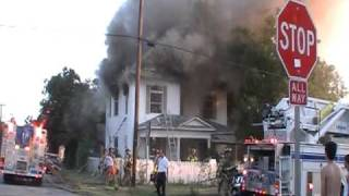 House Fire on  Peach Street  - Fort  Worth, Texas
