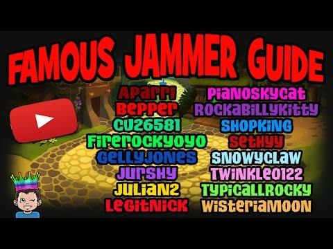 THE JAMMER GUIDE - EVERY FAMOUS ANIMAL JAM YOUTUBER