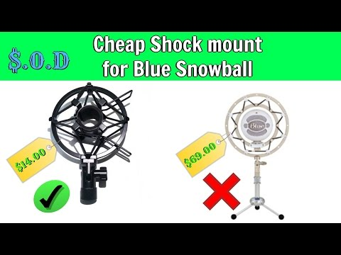 Cheap shock mount for the blue snowball Mic