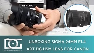 UNBOXING REVIEW | SIGMA 24mm f/1.4 Art DG HSM Wide Angle Lens for CANON DSLR Cameras