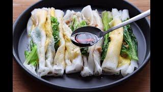 【大米腸粉】用大米做美食,晶瑩剔透,Q彈爽滑,壹次1斤大米不夠吃!