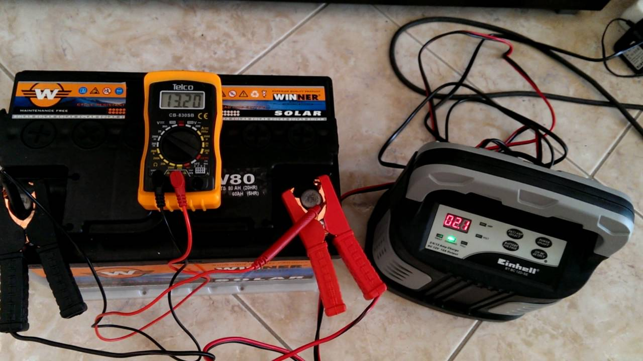 einhell battery charger winner solar battery 12 volt 80. Black Bedroom Furniture Sets. Home Design Ideas