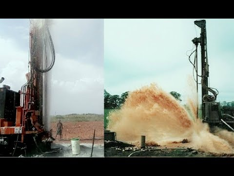 Borewell Digging | The Pressure of Underground Water during Borewell Drilling