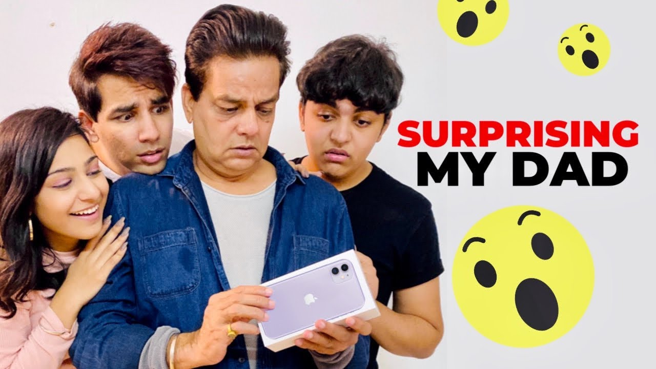 SURPRISING MY DAD WITH iPHONE 11   Rimorav Vlogs - YouTube