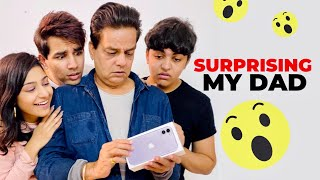 SURPRISING MY DAD WITH iPHONE 11 | Rimorav Vlogs