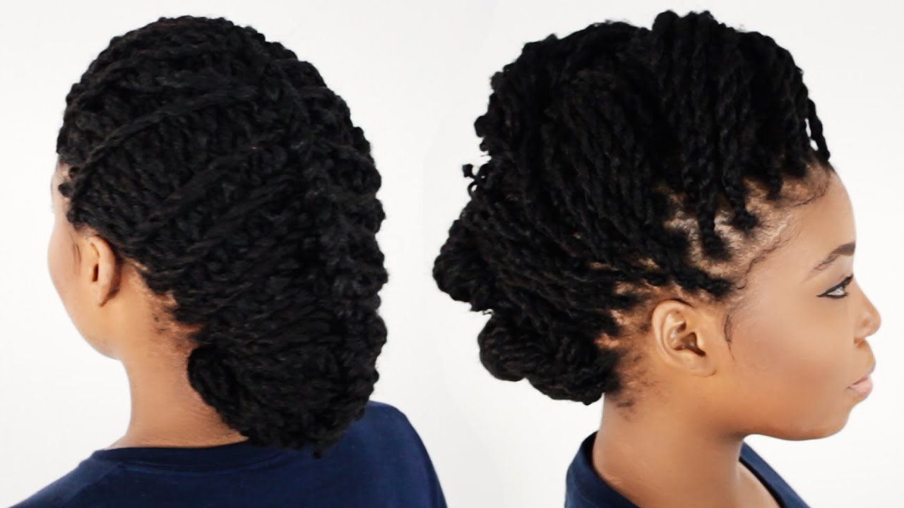 3 Ways To Style Your Kinky Twist Hairstyles Tutorial 6 Of 7 Youtube