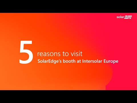 HD] 5 Reasons to Visit SolarEdge at Intersolar - YouTube