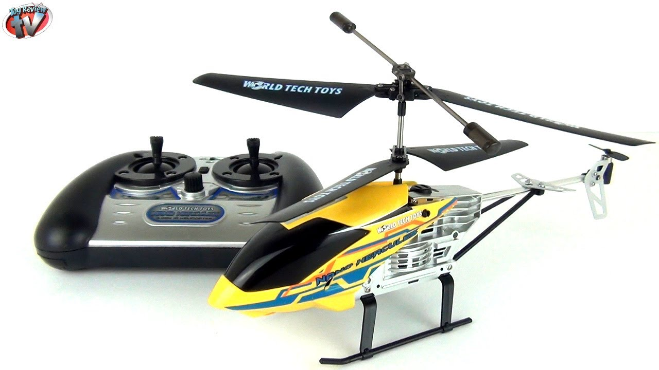 Nano Hercules 3 5CH Unbreakable Gyro IR Helicopter Toy Review, World Tech  Toys