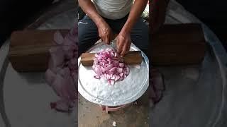Onion cutting fast cutting