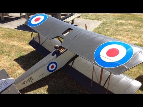 Giant Sopwith Pup WWI Warbird Gas Powered RC Plane At Warbirds Over Whatcom With A Crash,