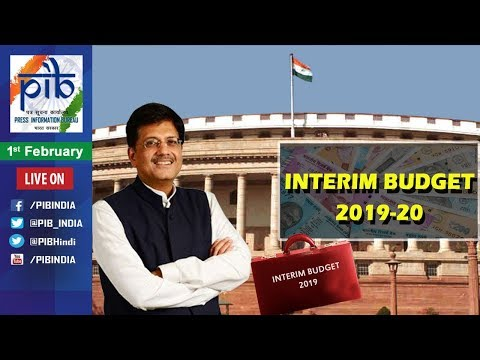 Union Finance Minister Piyush Goyal Presents Interim Budget 2019