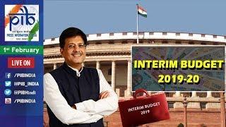 Union Finance Minister Piyush Goyal Presents Interim Budget 2019