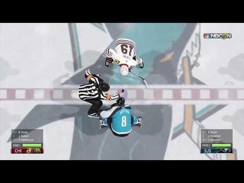 NHL 18 San Jose Sharks vs Chicago Blackhawks game 2